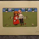 Vintage Postcard W/ Cute Children Embossed Design Posted Lithograph Printed