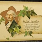 Vintage George Washington Birthday Postcard  Divided Back Unused Embossed Design