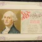 Vintage George Washington Birthday Postcard Embossed Not Used Divided Back
