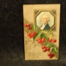 Vintage George Washington Birthday Postcard Embossed  Used Divided Back 1910