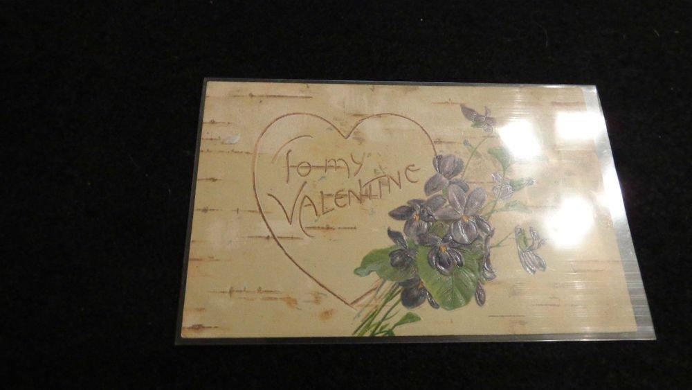 Valentine Postcard  Embossed Design  Made in Germany
