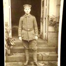 World War I Real People Postcard German Soldier in Uniform Unused Divided Back
