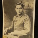 World War I Real People Postcard Young German Soldier in Uniform Unused Divded