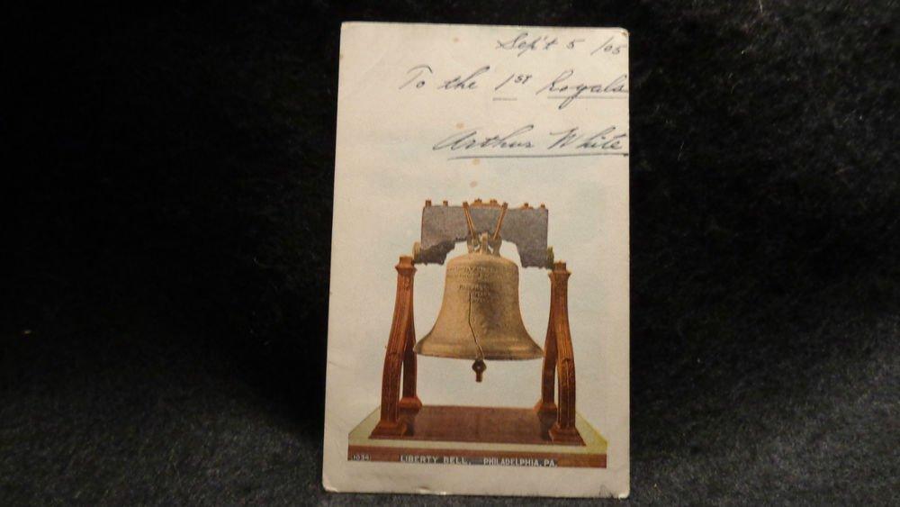 "Vintage Patriotic Postcard ""Liberty Bell""  Used Postmarked 1905  Undivided Back"