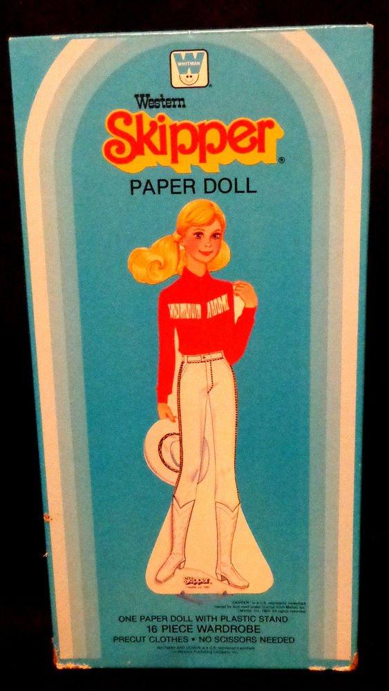 Vintage Western Skipper Paper Doll Uncut  Whitman  1983  Excellent Condition