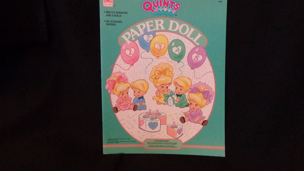 Modern Uncut Paper Dolls Quints Dolls Published 1990 by Tyco and A Golden Book