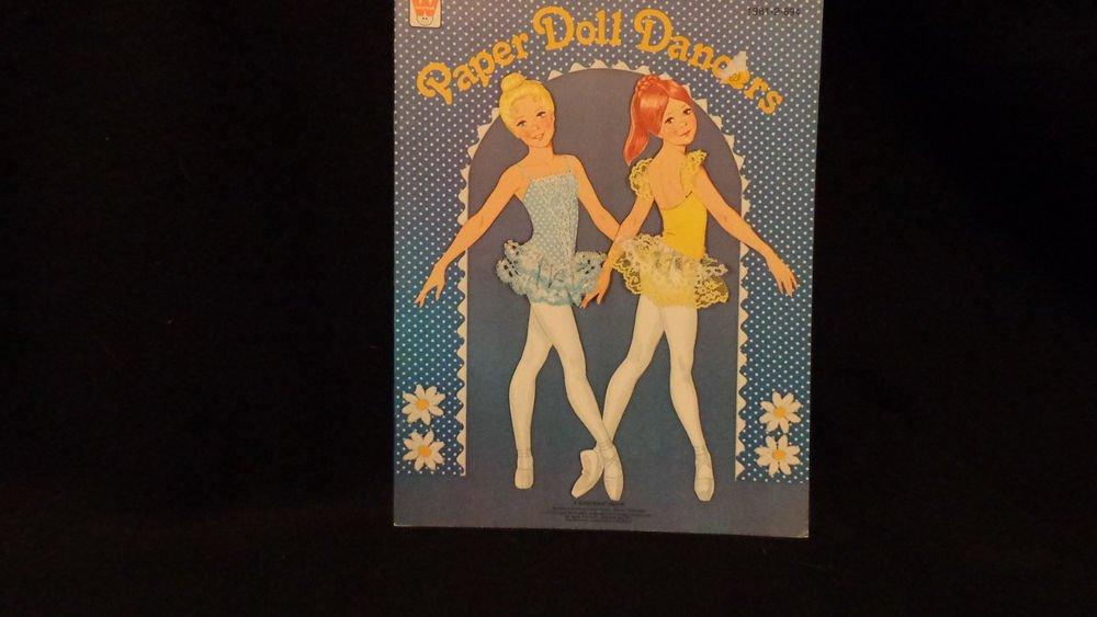 Vintage Uncut Paper Doll Dancers Whitman 1979 Two Dancers W/ Costumes