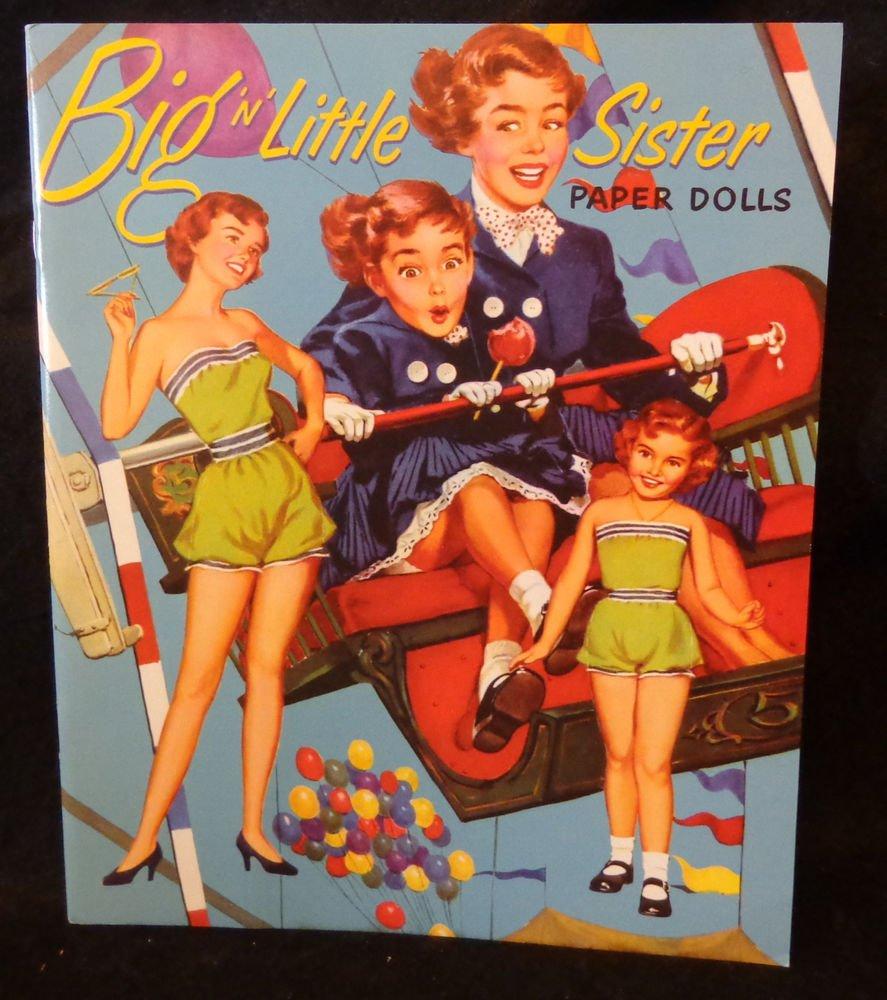 Big 'n' Litle Sister Uncut Paper Dolls  Paper Studio 2010 Merrill #1549