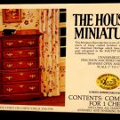 House of Miniatures No. 40009 Chippendale Chest on Chest Original Box Unassemble