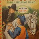 Vintage Hopalong Cassidy Bonnie Book w/ two Hop-Ups  They Work & are Intact 1950