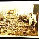 World War I Miltary Real People Postcard German Soldier After Battle  Unused