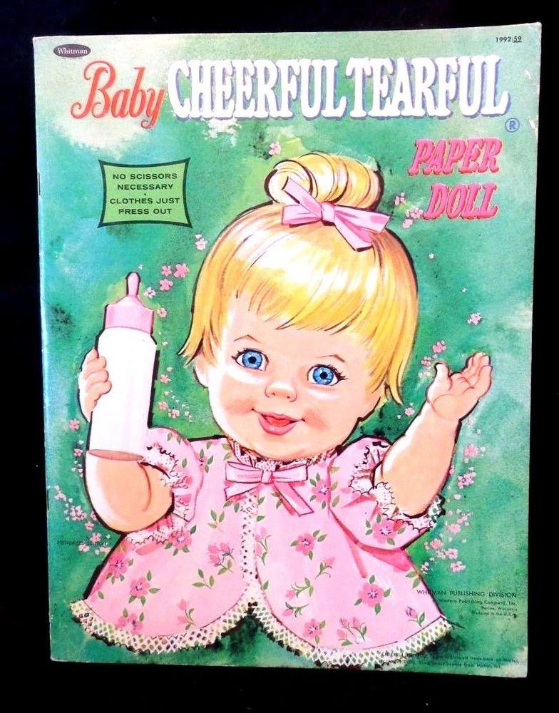 Baby Cheerful Tearful Paper Dolls Uncut Whitman Publishing Company 1968  Matell
