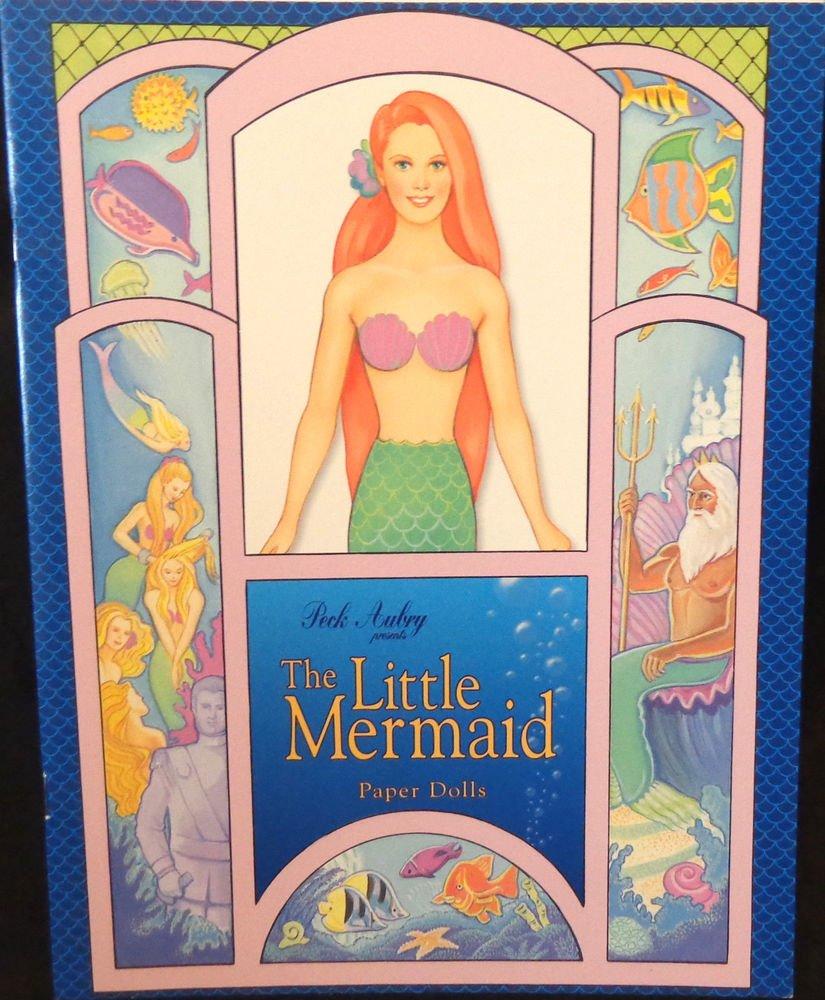 The Little Mermaid Paper Dolls Uncut  Peck Aubrey Publisher 1997 Almost Mint
