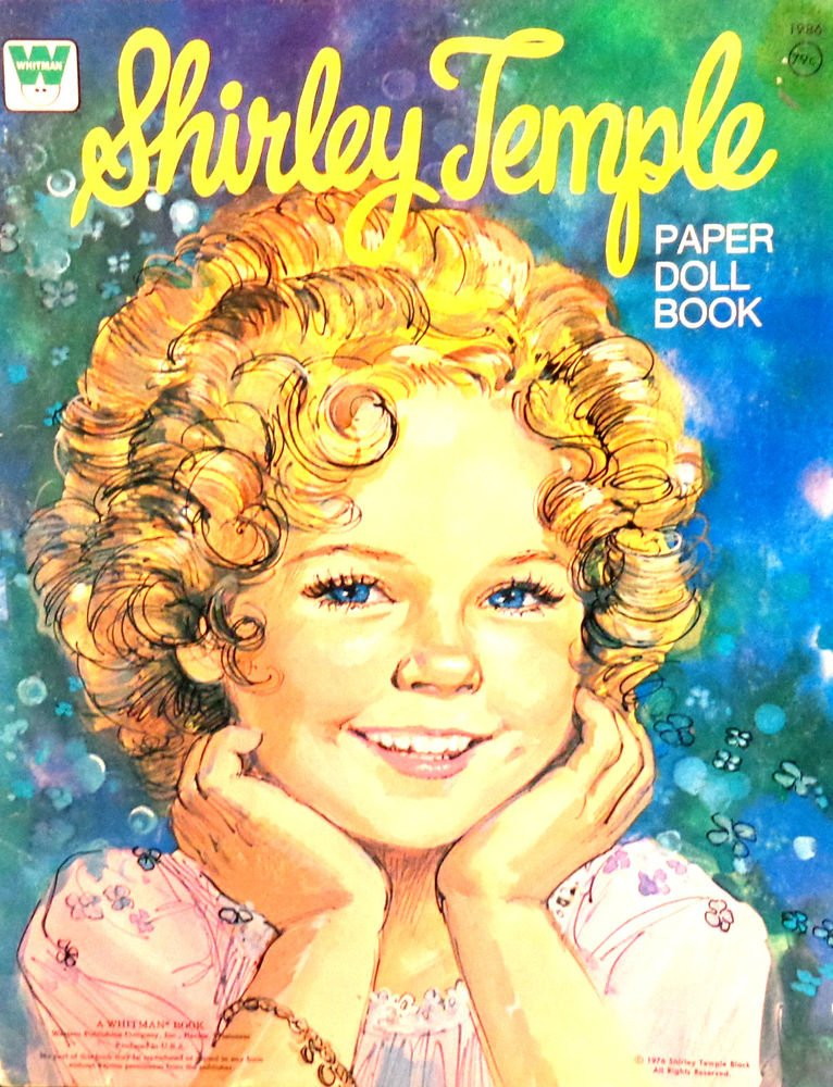 Shirley Temple Paper Doll Book  UNCUT  Whitman Pub. Co. 1976 Excellent Condition