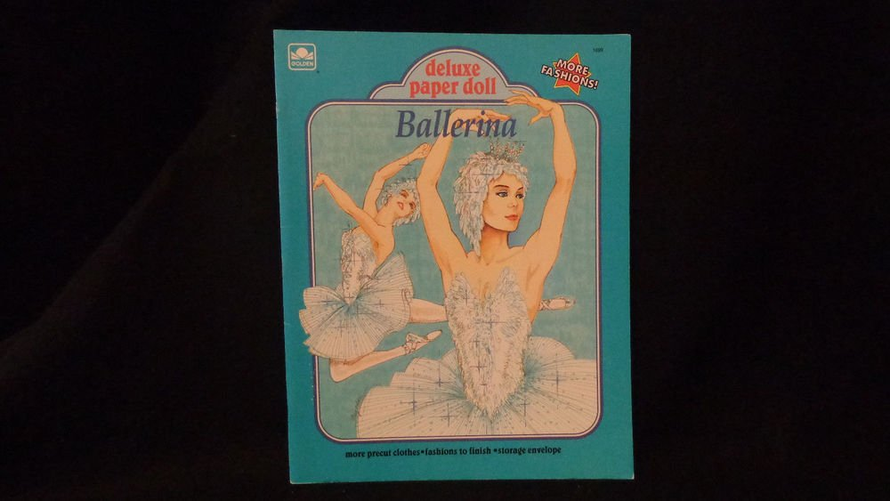 Uncut Ballerina Deluxe Paper Dolls  Published 1991 by Golden Book Almost Mint