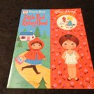 Whitman Paper Dolls Little Red Riding Hood Story to Read 1972  Uncut Dolls #1961