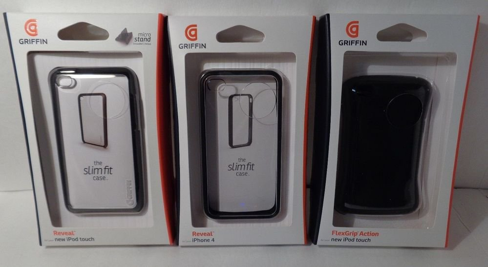 Griffin reveal cases and grip cases for iphone 4 and ipod touch/protective cases