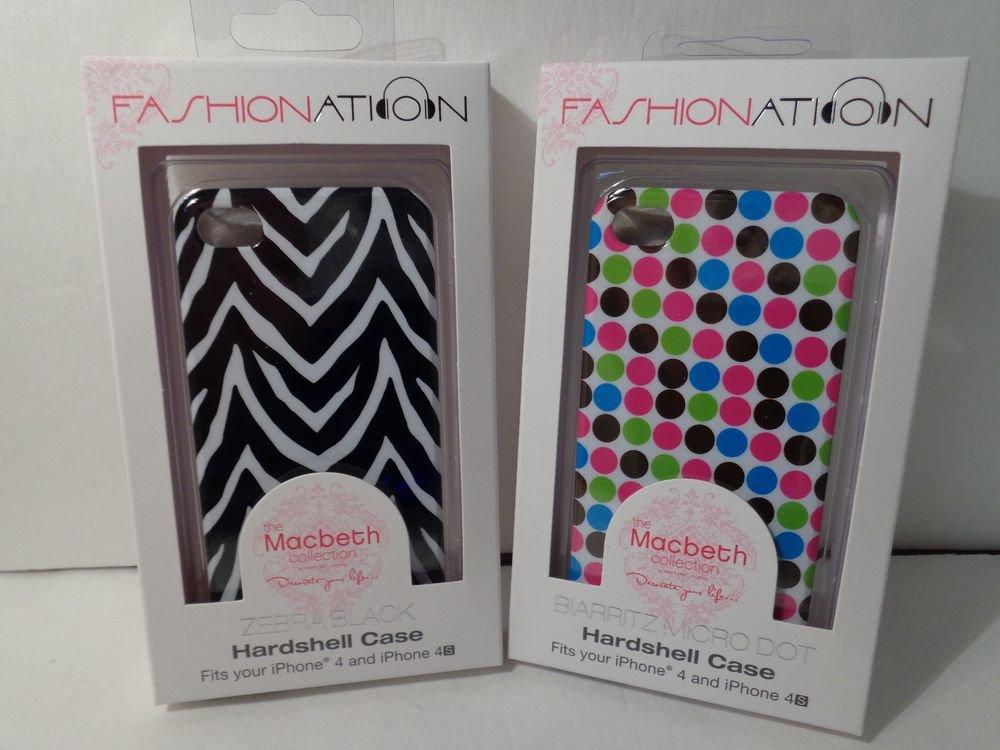 Iphone 4/4s hardshell cases/Zebra Print/Polka Dot from Macbeth collection/Rare