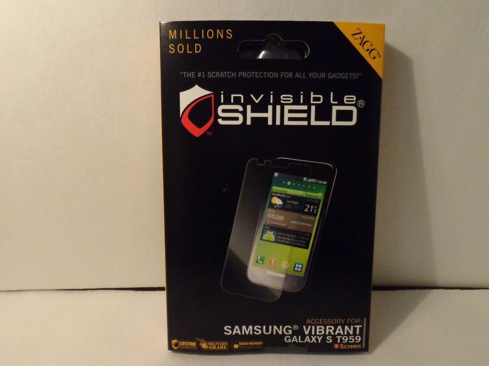 Invisible scratch proof screen protector for the Samsung Vibrant/military grade