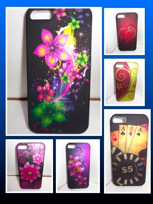 iPhone 5 snap on case/Matte Holographic pop out case/free shipping/pick a design
