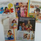 Lot of 5 SESAME STREET Muppet Characters Ad Pages~Garage,Push Button,Bert,Ernie+