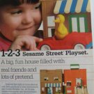 80s Playskool Sesame Street Muppet Characters Playset Print Ad~Big Bird etc