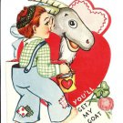 Vintage Childrens Valentine Card~BUTT-ER Be My Valentine or You'll Get My GOAT