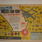 60s Vintage Junior Sales Club of America Ad~P-38 Lockheed Lightning Toy Prize Ad