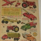 50s Vintage Hubley Plane Tractor Trucks Ad~Revell Big Mo Ford Stutz Etc Cars Ad