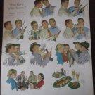 50s Beer Belongs Fishing Theme Douglas Crockwell Art Ad