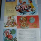 50s HASBRO Toy Ad/Advertisement~Dr/Nurse,Cosmetic Case