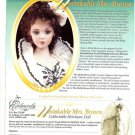 Titanic Heroine Unsinkable Molly Brown Jan McLean Porcelain Doll Advertisement