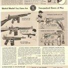 Mattel,Nichols Toy Cowboy Cap Guns Ad~Winchester,Fanner 50,Fire-Bolt,Swivelshot