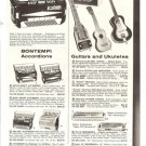 50s Vintage Musical Instruments Ad Page~Accordions,Guitars,Ukuleles,Chromonicas