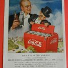 50s Dummy Charlie McCarthy Edgar Bergen CBS Red Coca Cola Bottle Cooler Print Ad