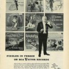 RCA Victor Records Photo Ad~Arthur Fiedler Conductor'57