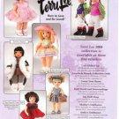 2004 Tiny Terri Lee CA & NY Travel Etc Dolls Ad Page