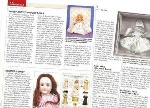 Magazine Clippings/Info on Nancy Ann Storybook Dolls