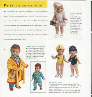 2004 Beach-Time,Tisket A'Tasket Etc Patsy Dolls Ad