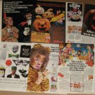 Lot of 10 Vintage Halloween Ad/Ads for Decorating or Framing Etc for your Party