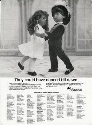 1986 Vintage Sasha & Gregor Danced till Dawn Doll Ad