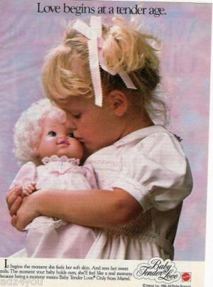 Mattel Baby Tender Love Doll Advertisement Page~So Cute