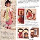 Japanese Wooden Kokeshi Dolls Magazine Ad Clipping~Bride,Children,Fishing Boy