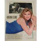 1990 Virginia Slims Cigarette Ad~Pretty Lady Smoking