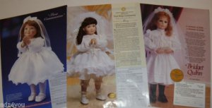 Lot of 3 90s Ads picturing Porcelain 1st/First Communion Collector Doll&Dresses