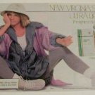 1987  Virginia Slims 2-Pg Ad~Casual Lavendar Outfit/Hat