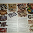 1985 Vintage Ad Pgs for Classic & Electronic Chess Sets/Games~1980s
