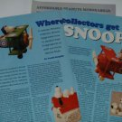 1994 Vintage Article/Pictures/Info on Collecting Snoopy Collectibles/Memorabilia