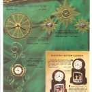1957 Mastercrafters Electric Motion/Action Clocks Ad Page~Swinging Playmates +