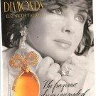 1993 Elizabeth/Liz Taylor White Diamonds Fragrance Dillard's Perfume Ad Page